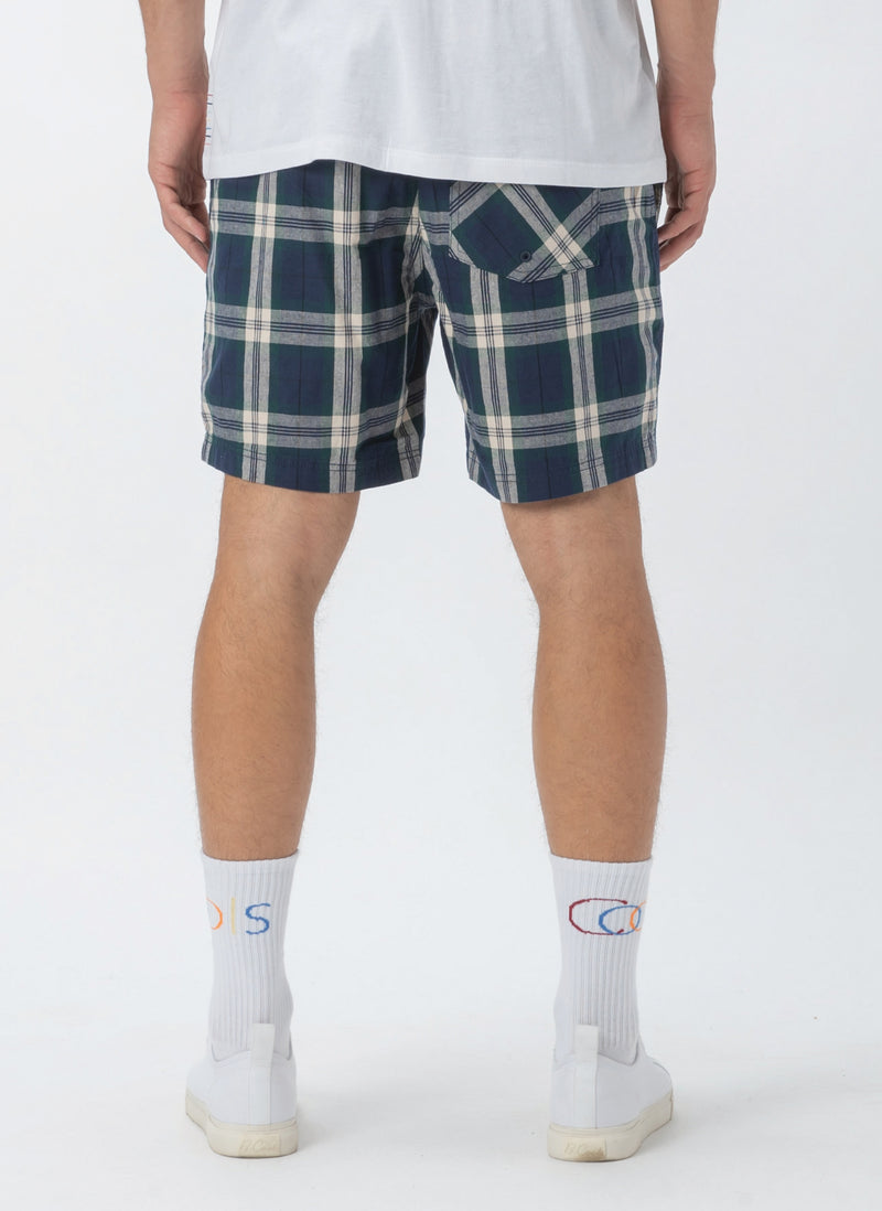"Poolside 17"" Short Navy Check"