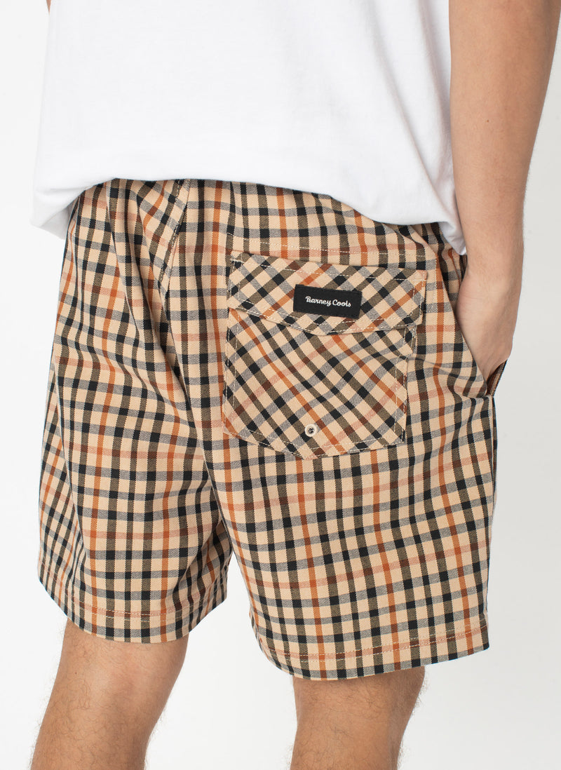 "Poolside 17"" Short Beige Check"