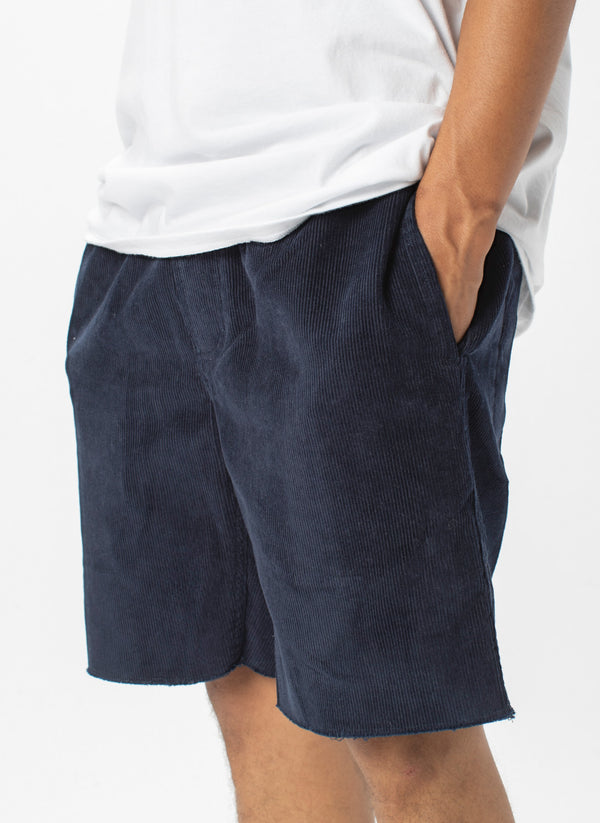 B.Relaxed Short Navy Corduroy