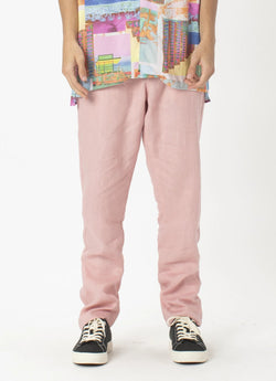 B.Relaxed Pant Pink Linen