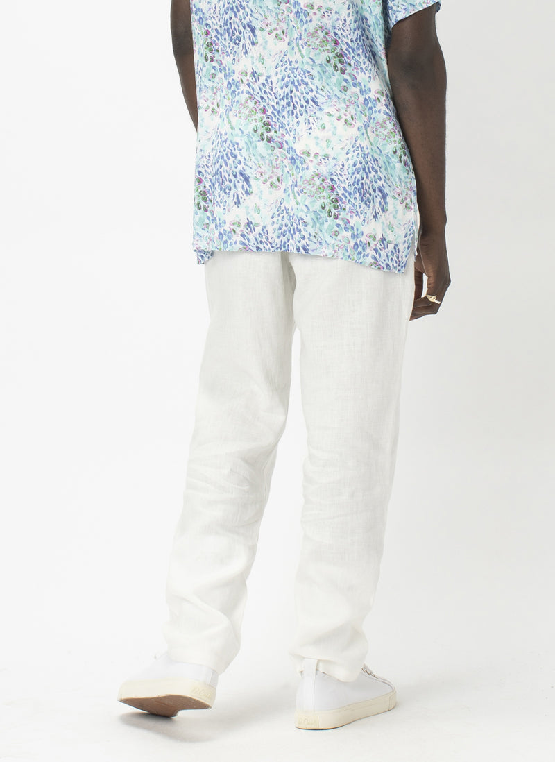 B.Relaxed Pant White Linen