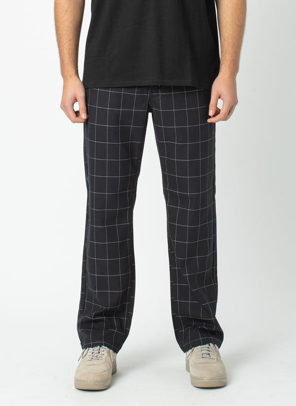 B.Boxy Pant Black Check - VIP