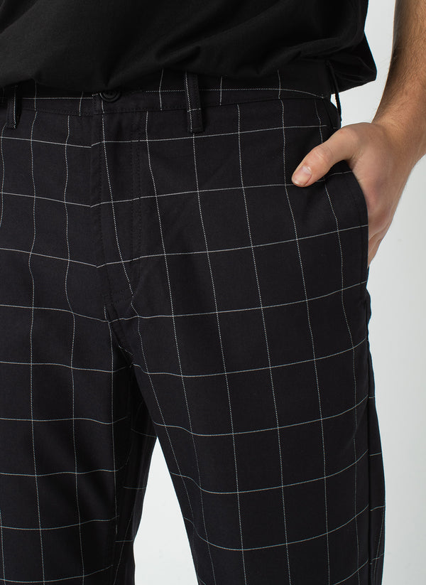 B.Boxy Pant Black Check - Sale
