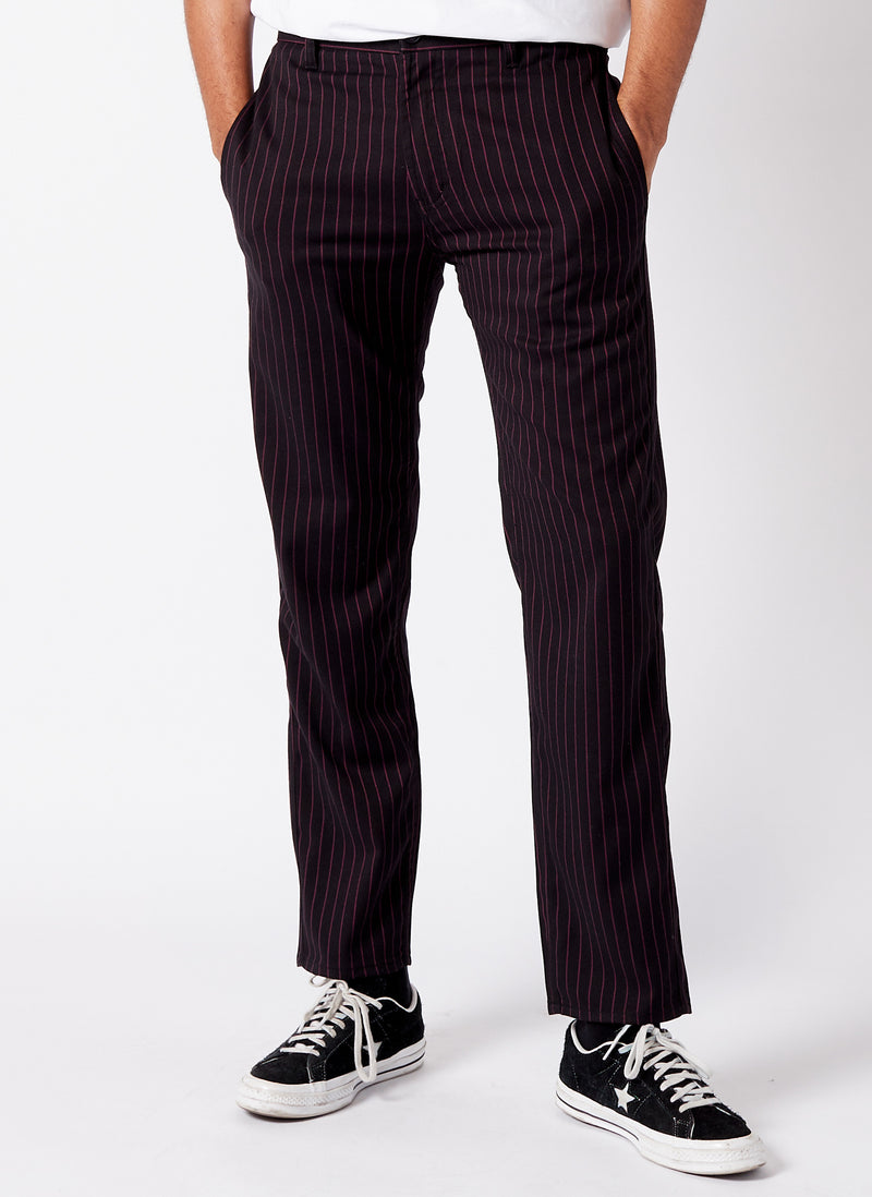 B.Relaxed Chino Red Stripe