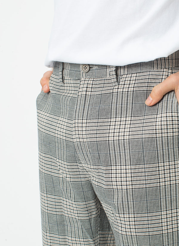 B.Boxy Pant Grey Check - Sale