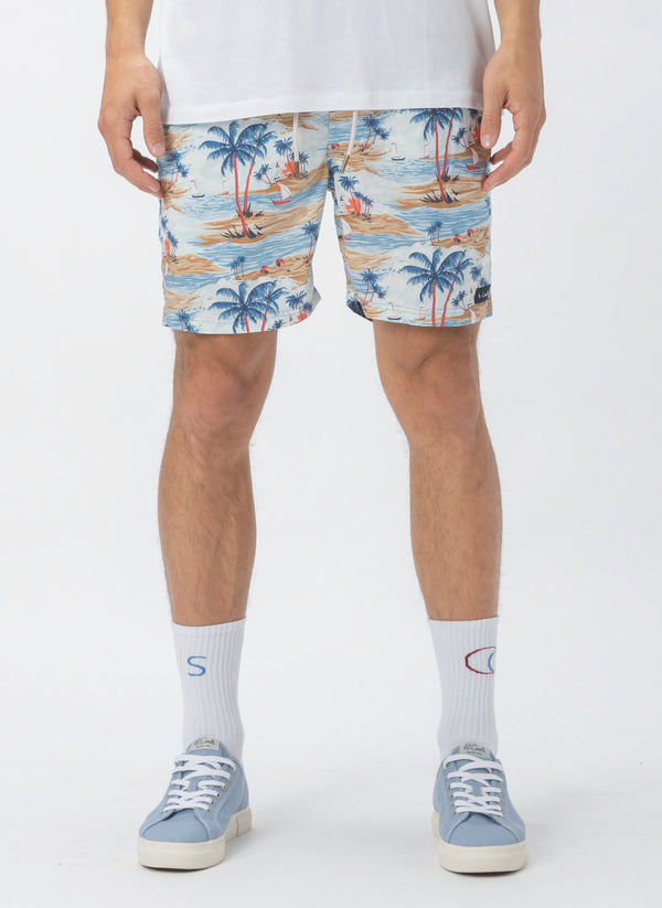 "Amphibious 17"" Swim Short Hawaii"