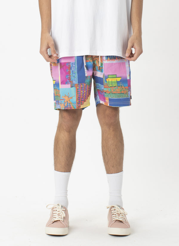 "Amphibious 17"" Swim  Short Miami Day"