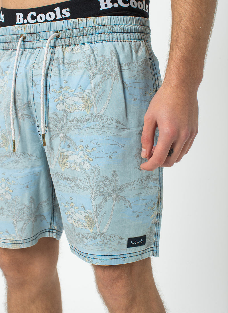 "Poolside 17"" Short Indigo Dolphins - Sale"