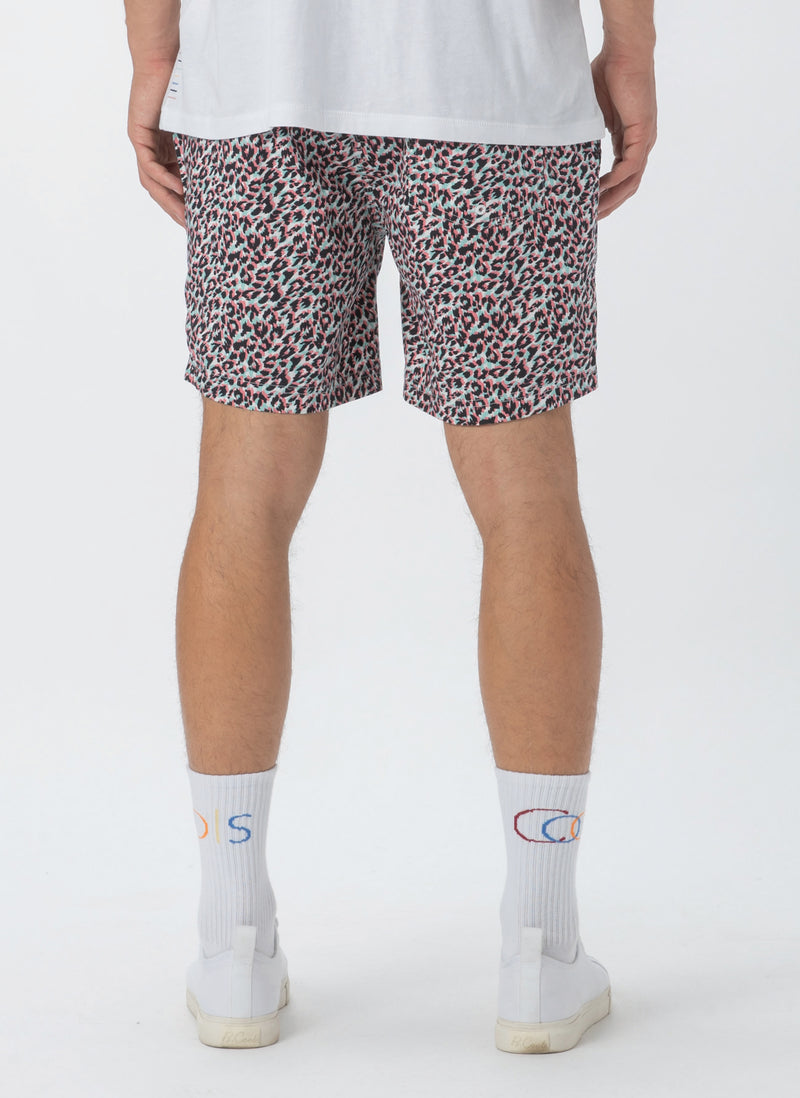 "Amphibious 17"" Swim Short White Leopard"