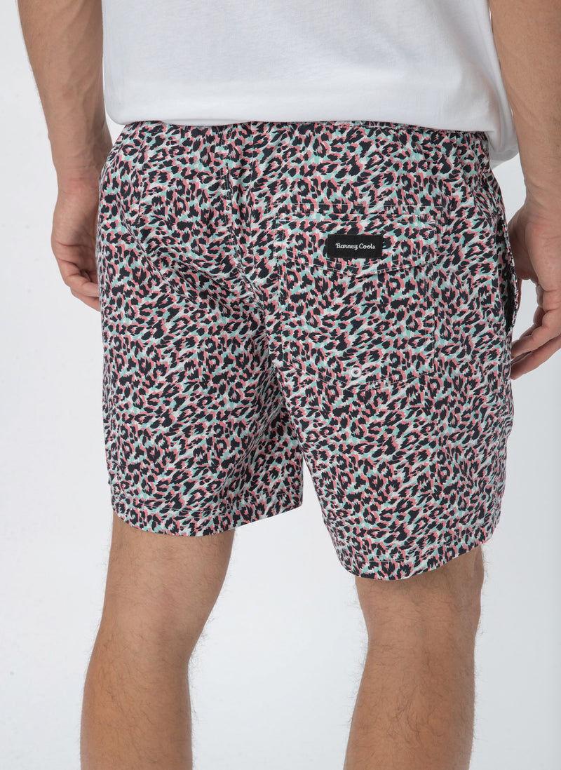 "Amphibious 17"" Swim Short White Leopard - Sale"
