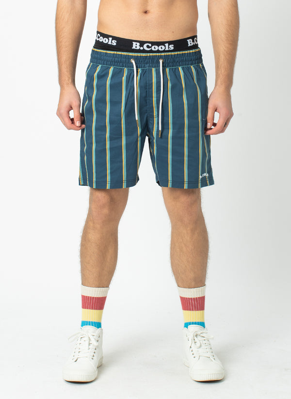 "Amphibious 17"" Short Navy Stripe"