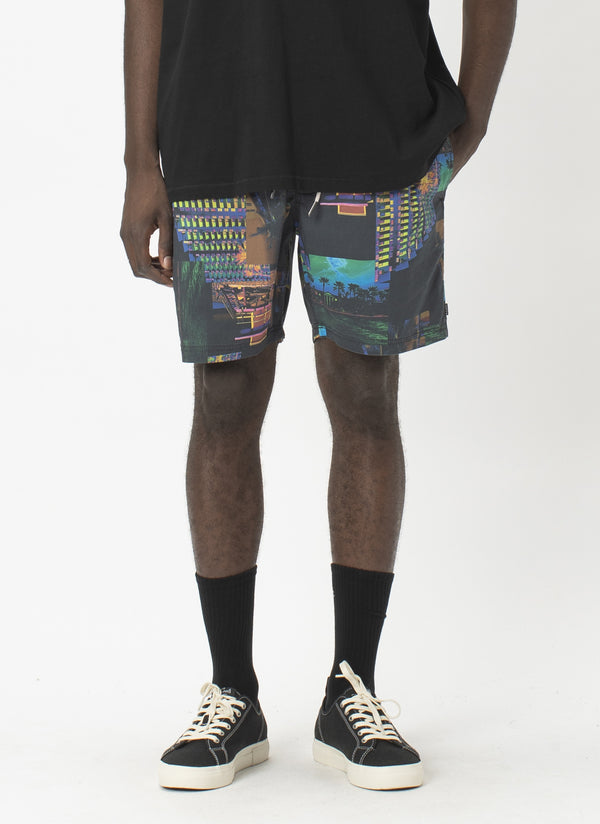 "Amphibious 17"" Swim  Short Miami Night"