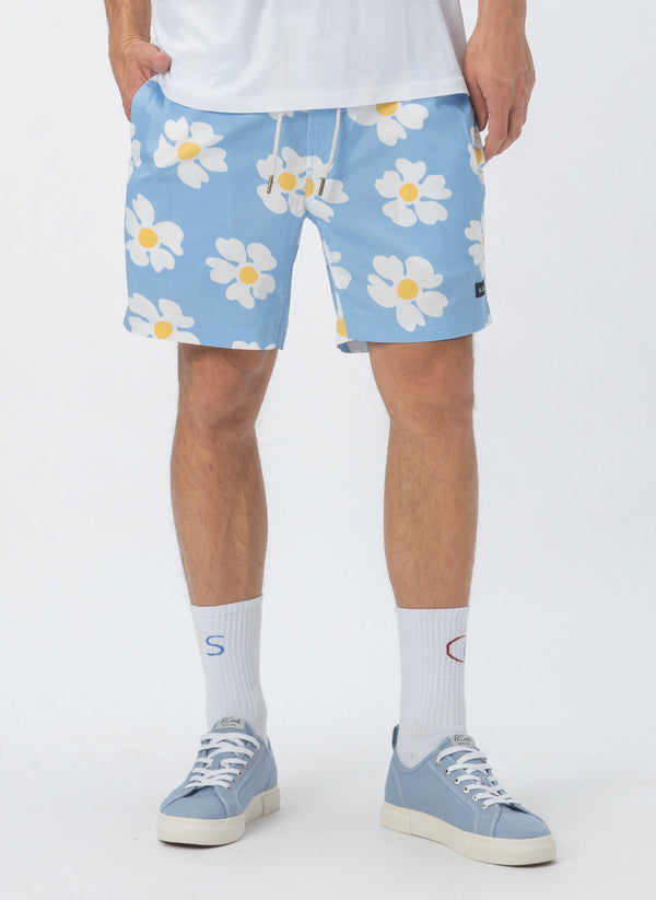 "Amphibious 17"" Swim Short Blue Daisy - Sale"