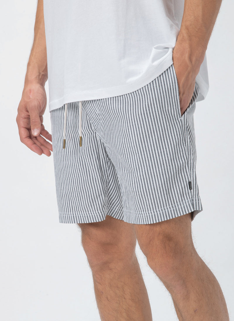 "Amphibious 17"" Swim  Short Black Stripe"