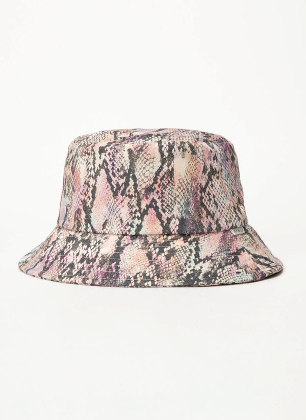 Bucket Hat Pink Snake - Sale