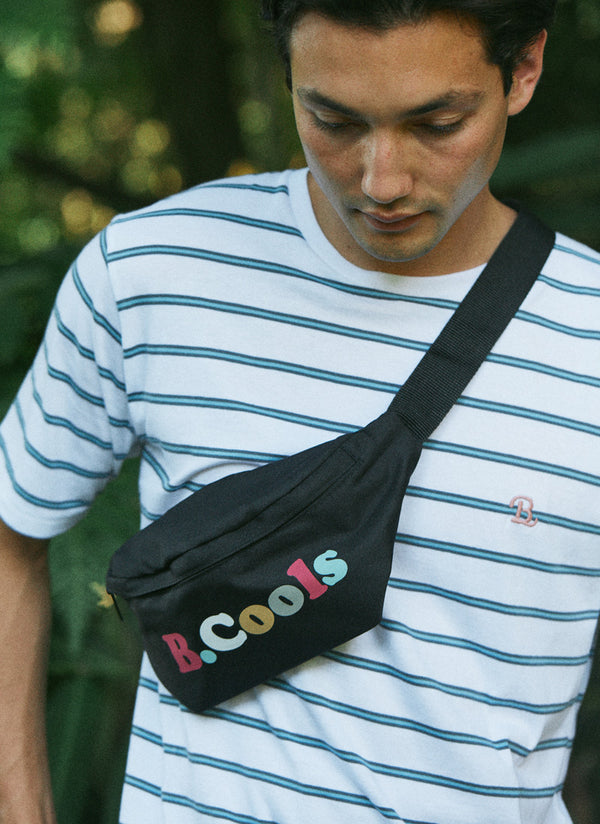 B.Cools Bum Bag Black Retro
