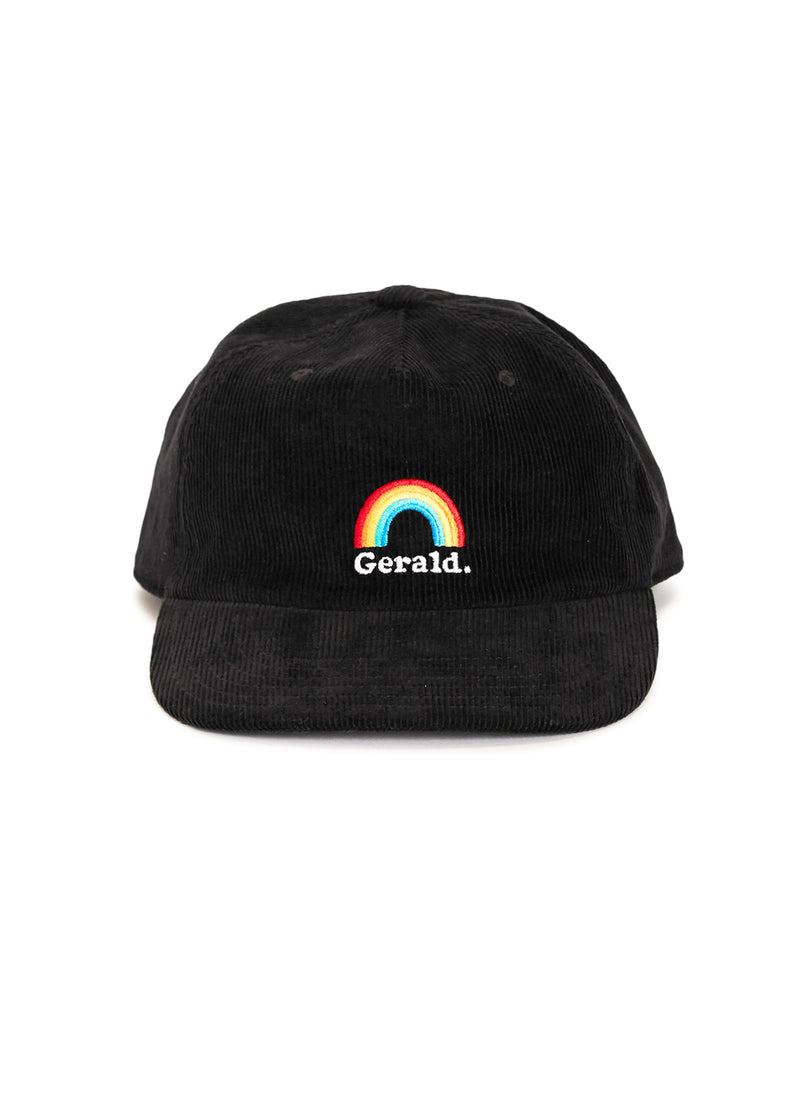 Rainbow 5-Panel Black Corduroy
