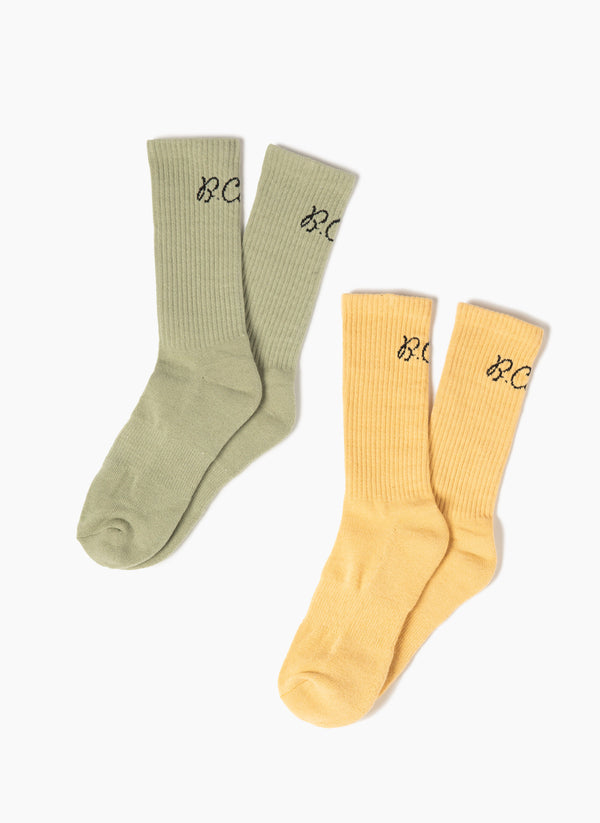 2-Pack Socks Seagrass/Summer Yellow