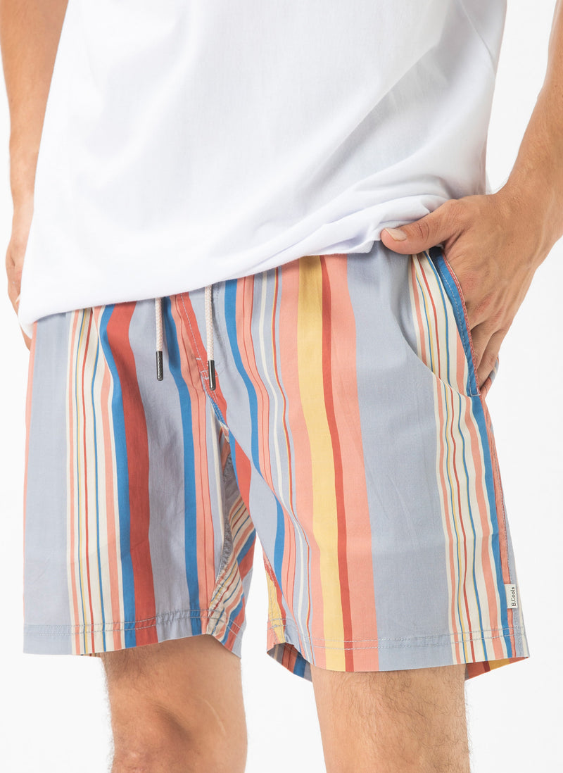 "Amphibious 17"" Swim Short Summer Stripe"