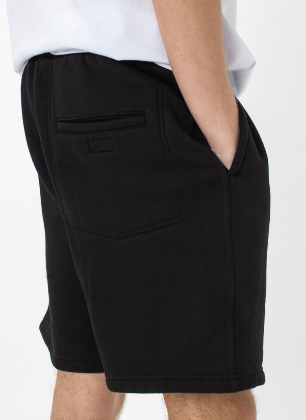 Badge Fleece Short Black