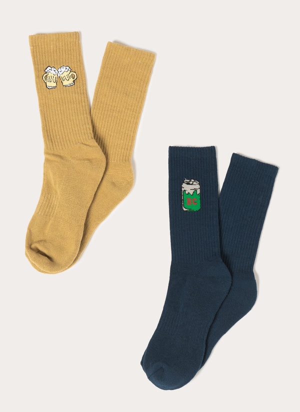 Cheers Mate 2-Pack Socks Mustard/Slate