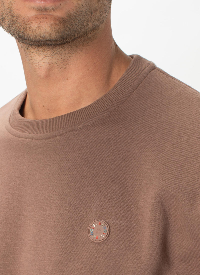B.Cools Badge Sweatshirt Clay