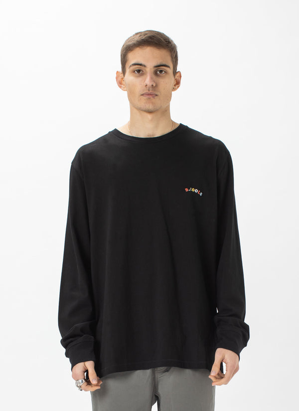 B.Cools Retro Embro LS Tee Black