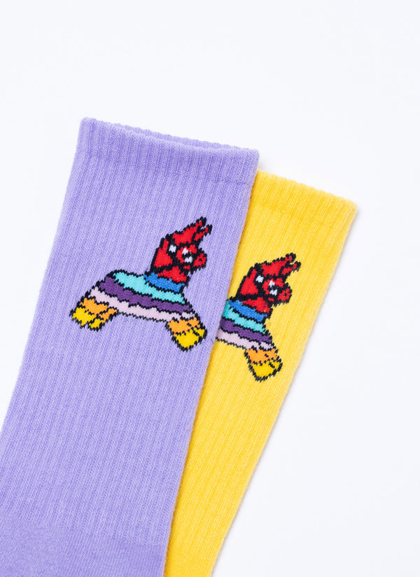 Gerald 2-Pack Sock Yellow/Lilac