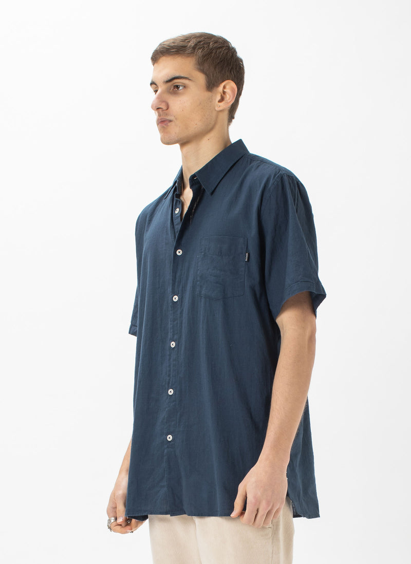 Holiday Short-Sleeve Shirt Slate Slub