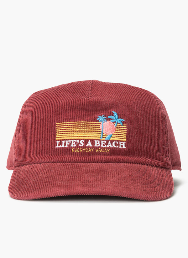 Beach Baseball Cap Red Cord