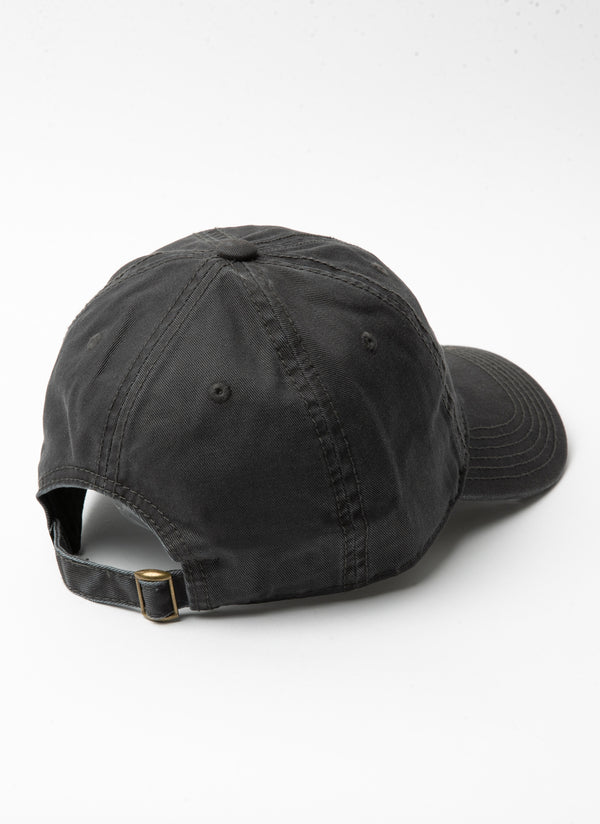 Script Embro Curve Brim Washed Black