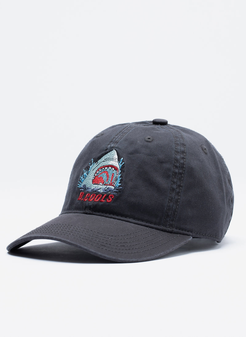Shark Curve Brim Washed Black