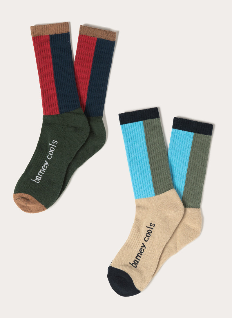 B.Cools 2-Pack Socks Colour Block
