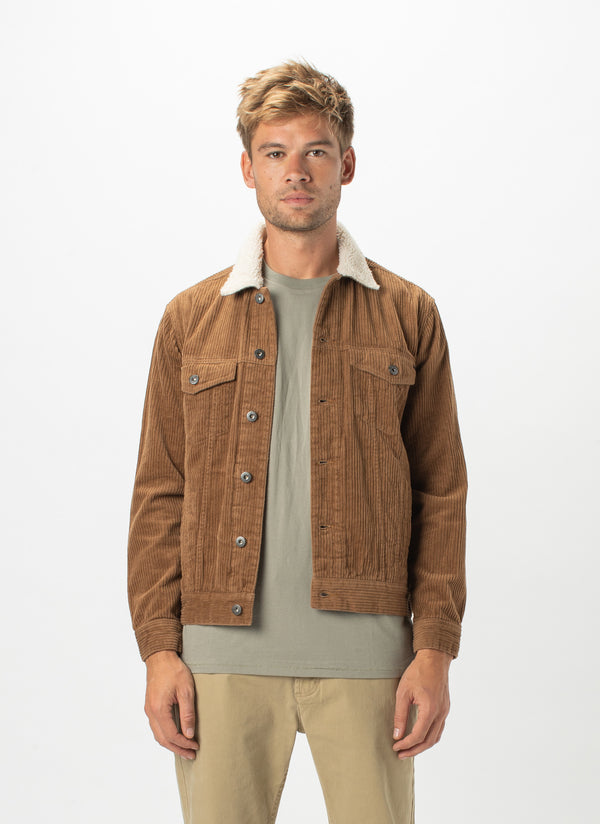 B.Rigid Sherpa Collar Jacket Clay Cord