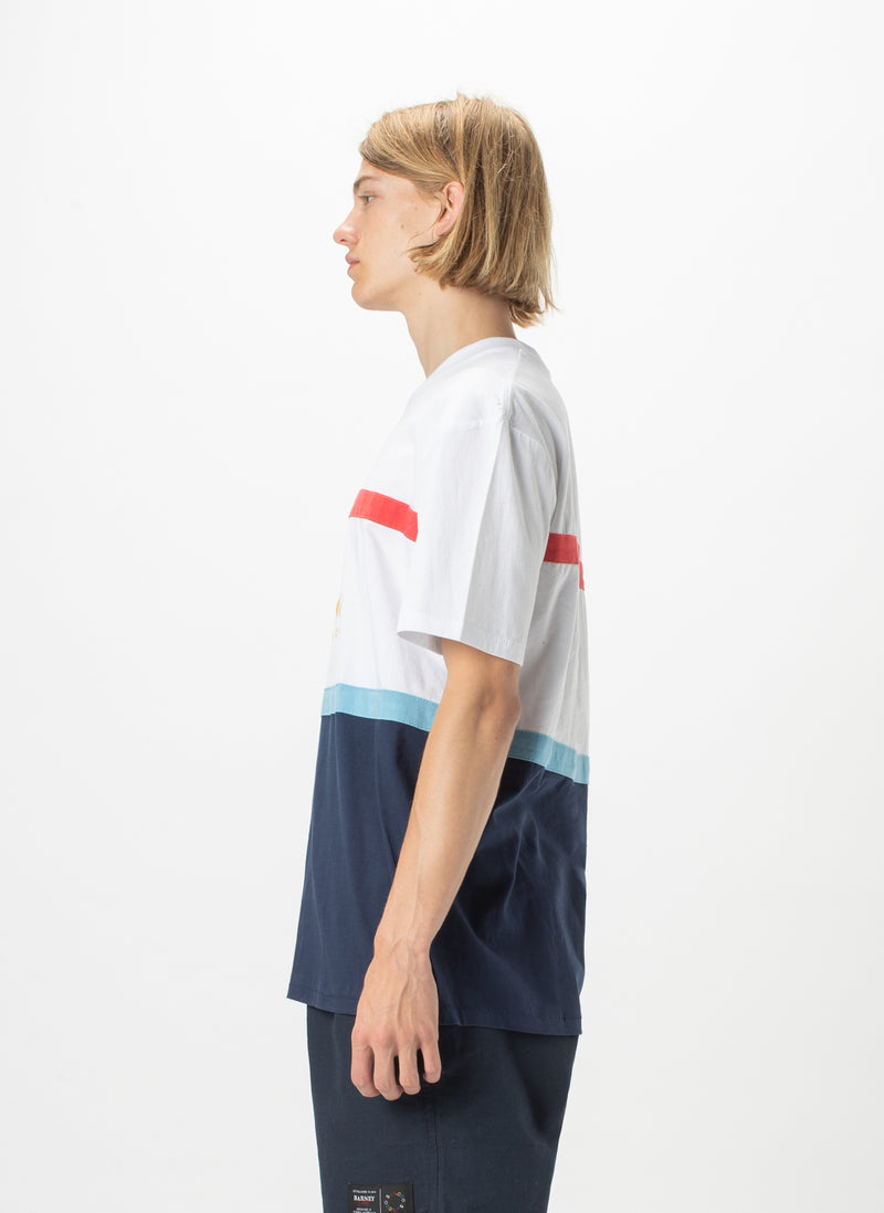Leisure Club Heritage Tee Navy Panel