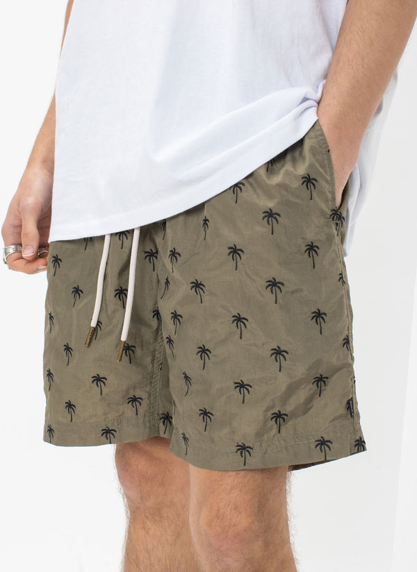 "Amphibious 17"" Swim Short Olive Embro"