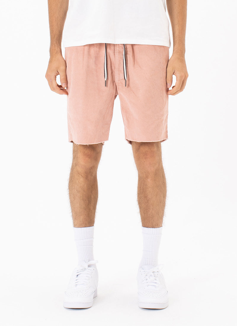 B.Relaxed Short Rose Corduroy