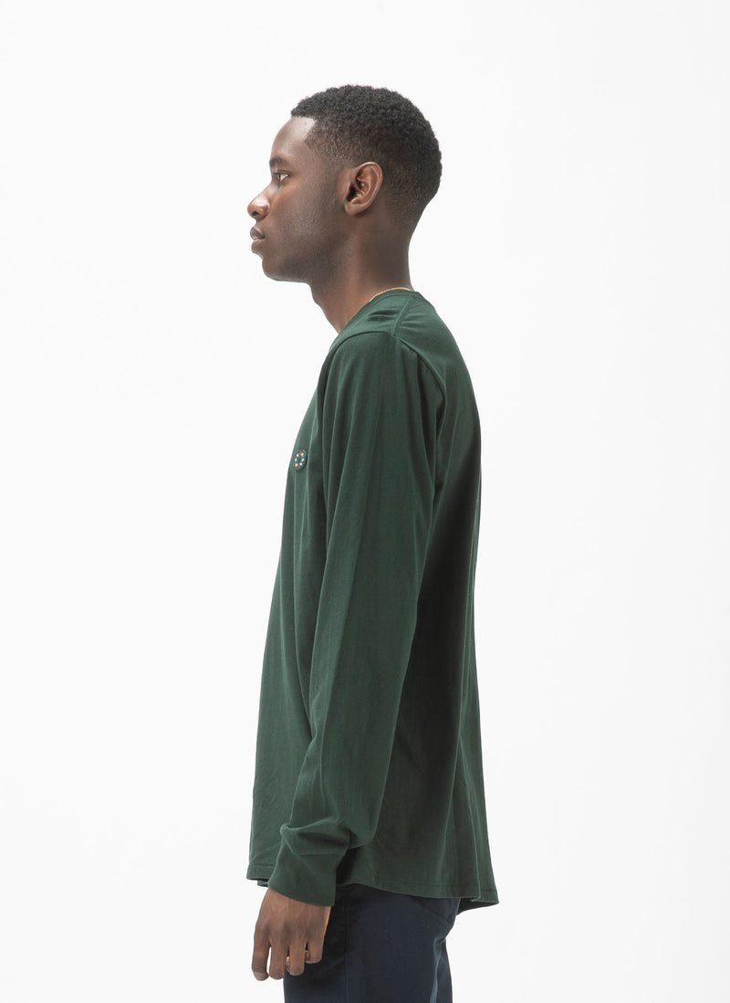 Badge LS Tee Forest