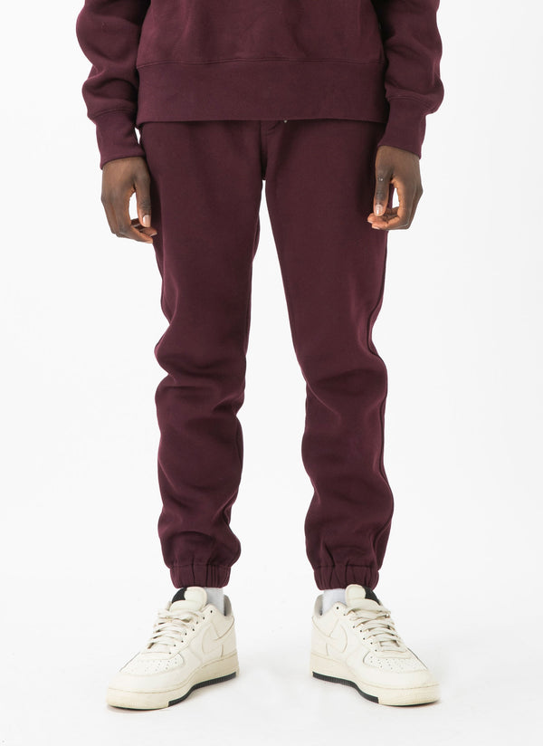 Badge Sweatpant Oxblood
