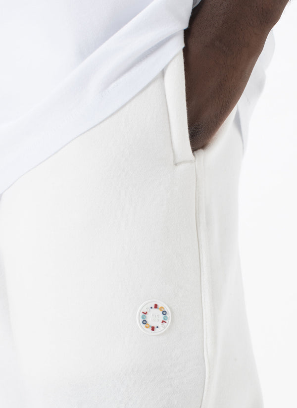Badge Sweatpant White