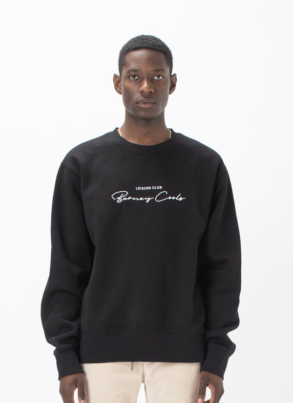 Club Script Sweatshirt Black