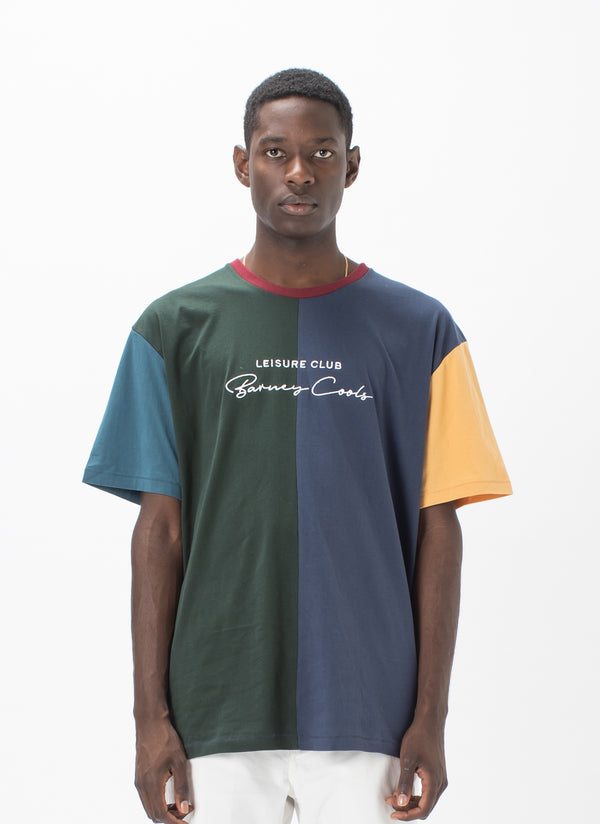 Club Script Tee Colour Block