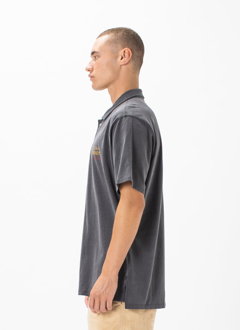 Comfy Camp-Collar Shirt Black Cobra