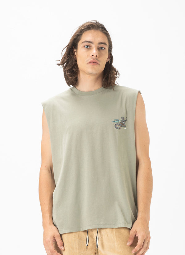 Legless Muscle Tee Sage