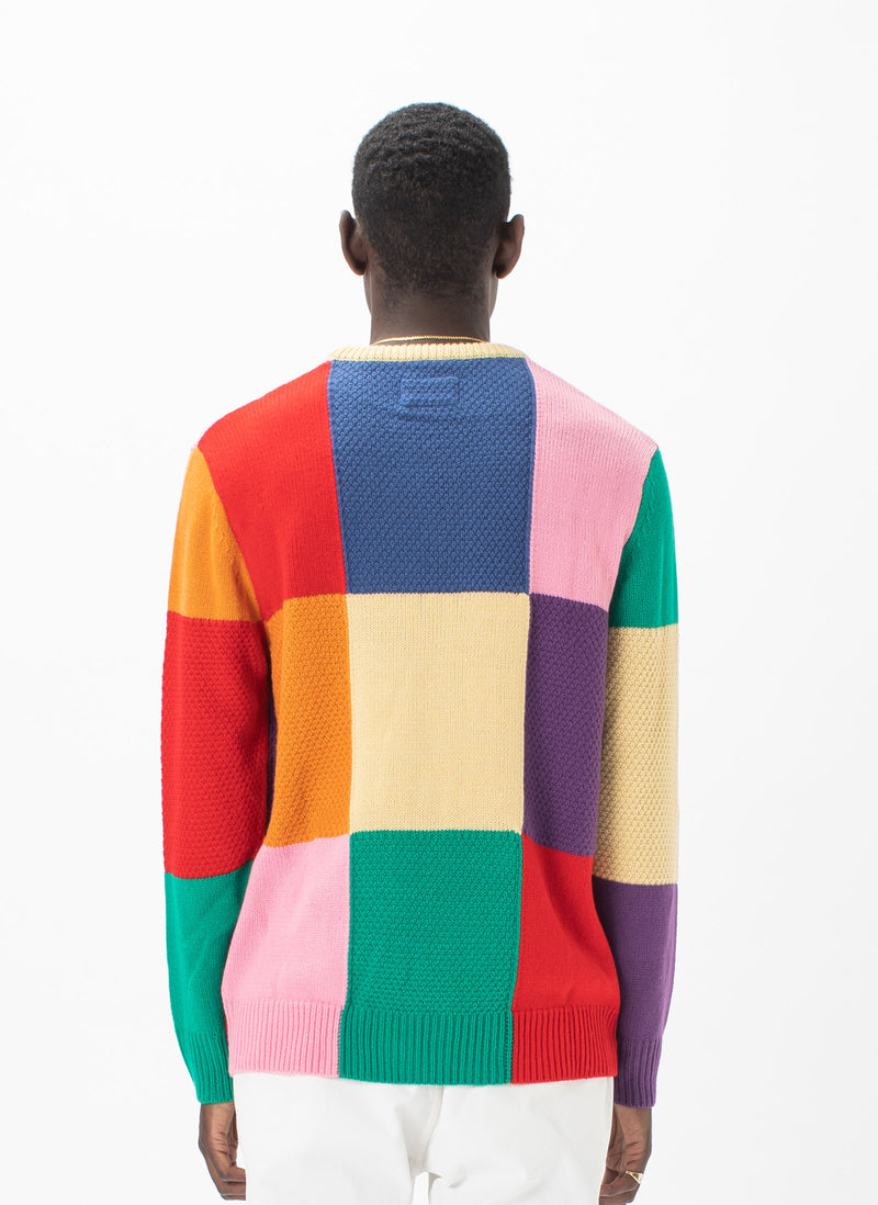 Gerald Knit Sweater Patchwork