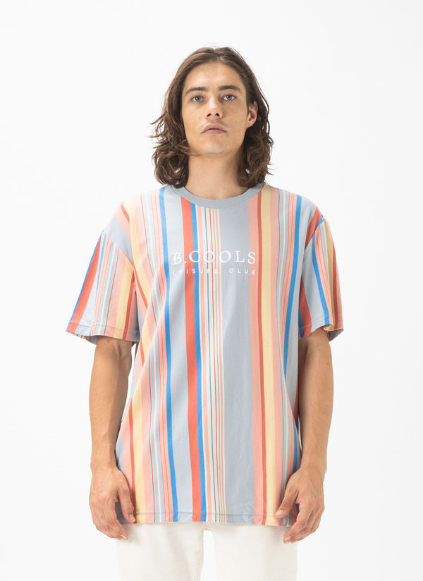 Leisure Club Heritage Tee Summer Stripe