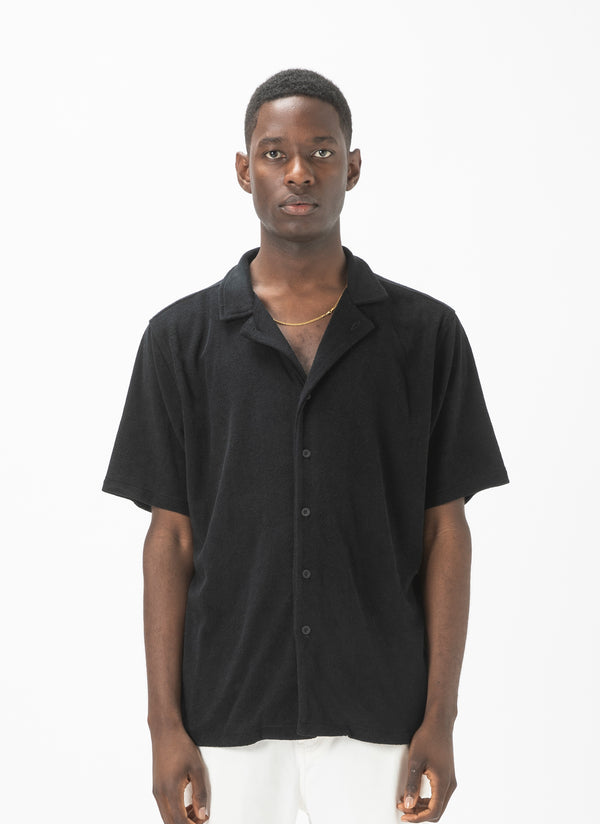 Holiday Terry Short-Sleeve Shirt Black