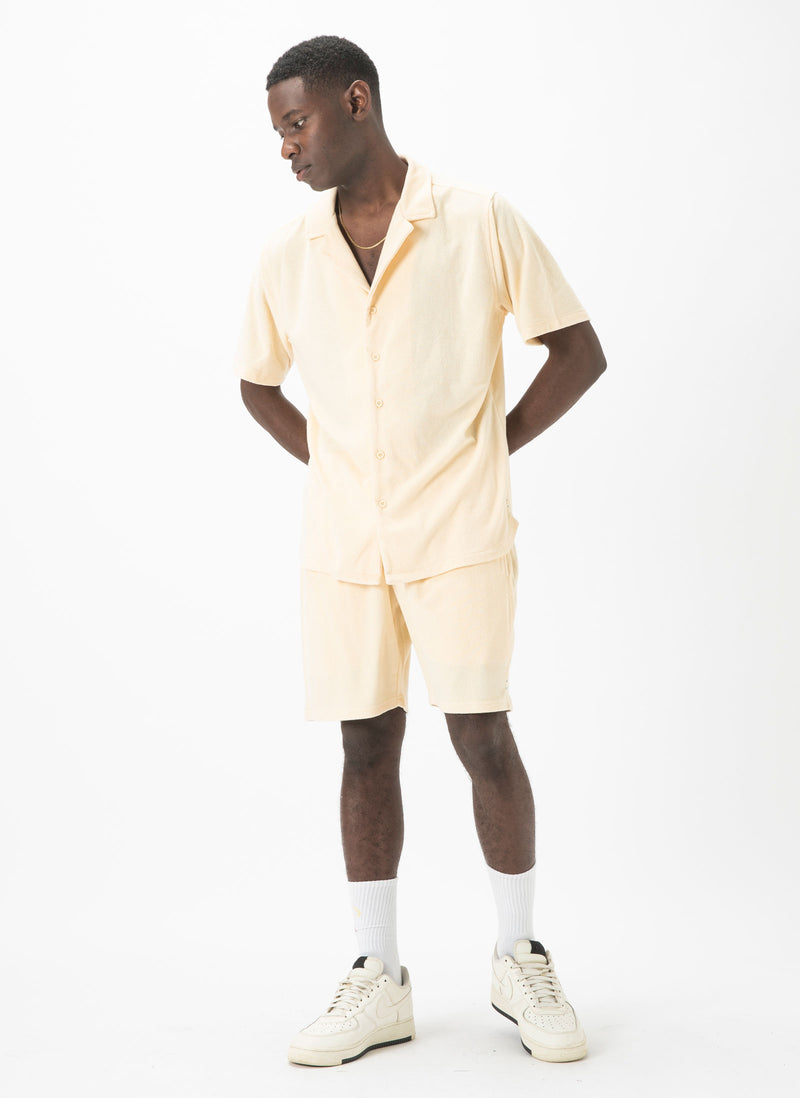 Holiday Terry Short-Sleeve Shirt Lemon