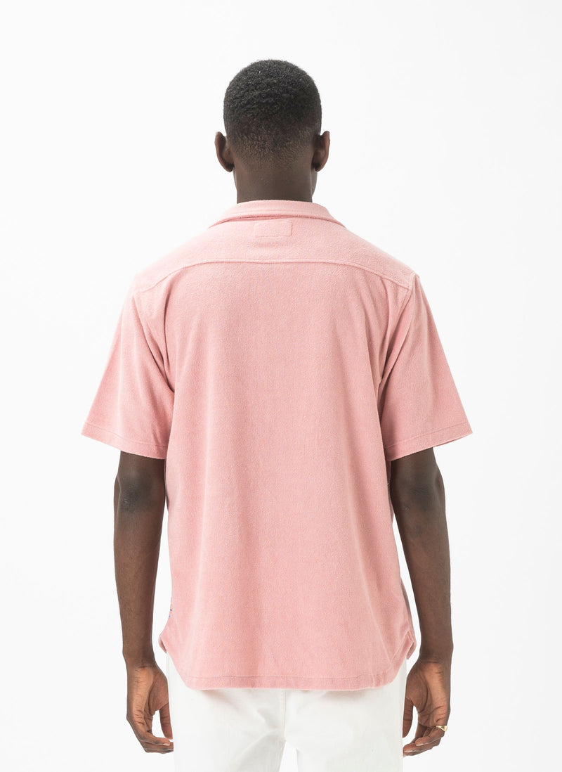 Holiday Terry Short-Sleeve Shirt Pink