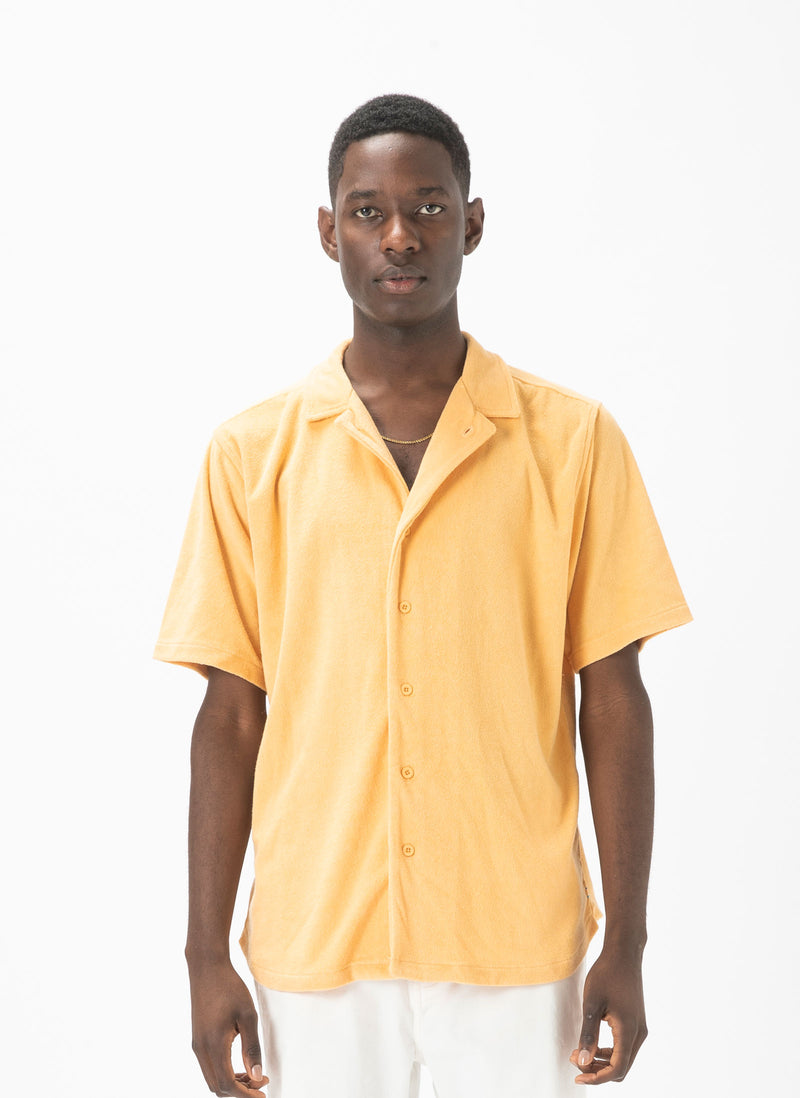 Holiday Terry Short-Sleeve Shirt Sand